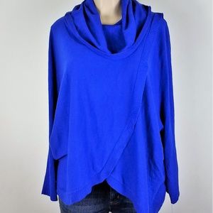 NY Collection Blue Winter Sweater